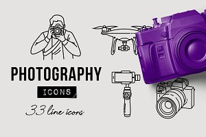 Camera & Photography Icons Pack