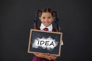Digital composite image of idea text