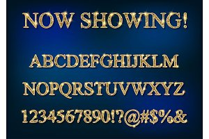 2 Gold alphabet letters isolated