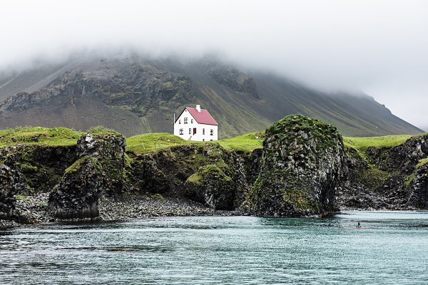 Stock Photos: Nature and travel - Lonely icelandic house