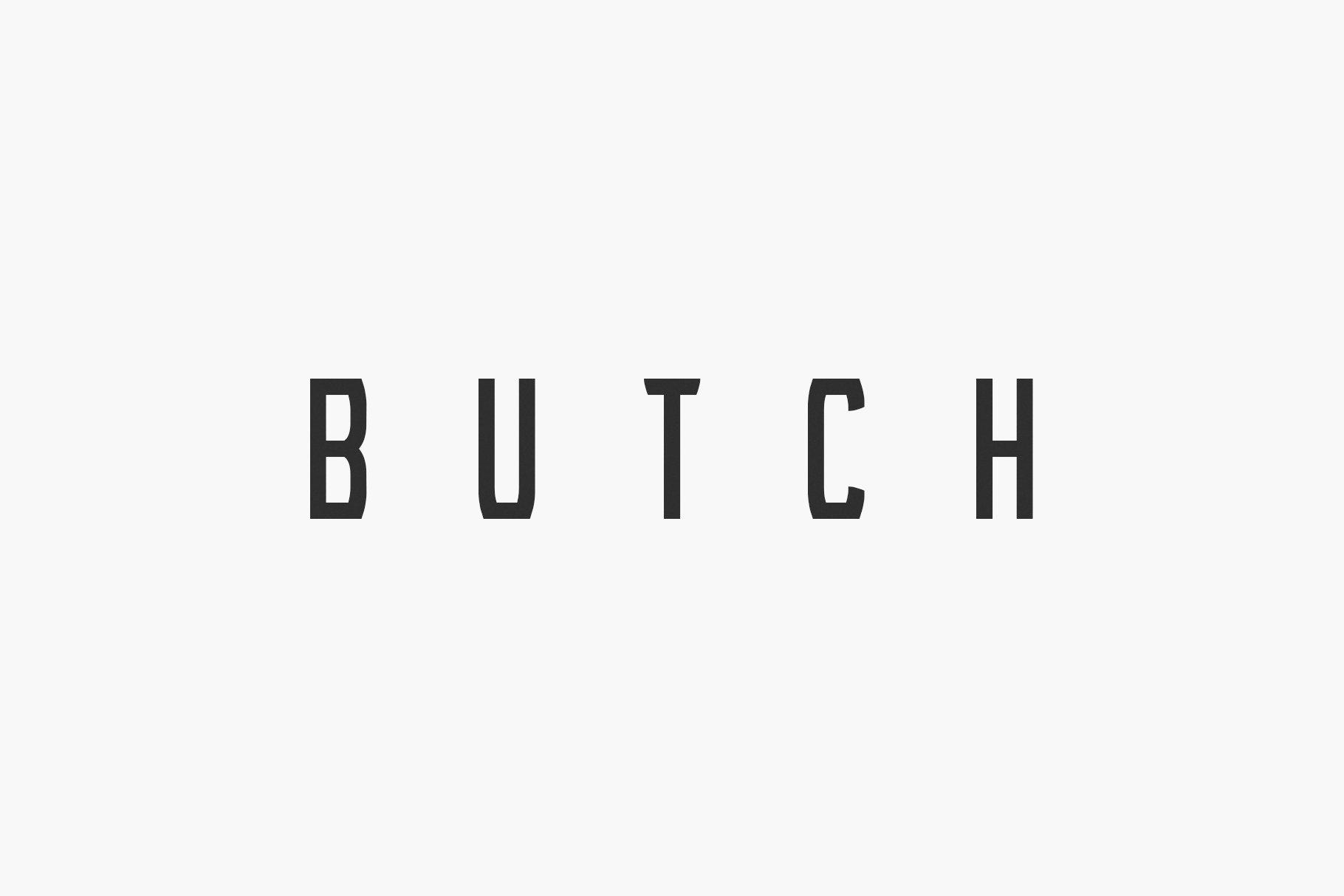 Butch display fonts creative market