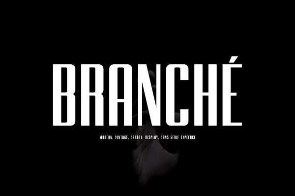 BRANCHE - Display Font