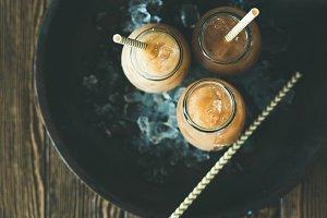 Cold Thai iced tea with milk