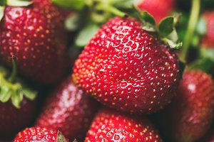Fresh strawberry texture, wallpaper