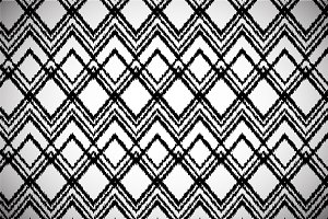 Black and white ikat chevron pattern