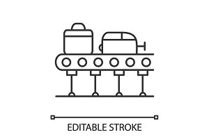 Baggage carousel linear icon