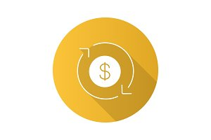 Dollar currency exchange icon