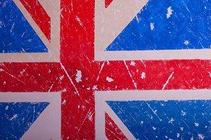 United Kingdom Flag with a vintage a