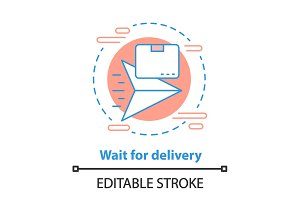 Delivery waiting time concept icon