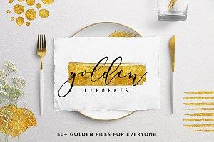 50+ Gold Leaf Elements
