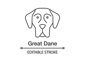 Great Dane linear icon