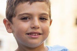 Portrait of a little cute boy