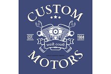 Custom motor vector t-shirt print