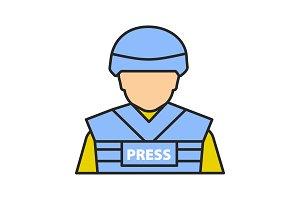 War correspondent color icon