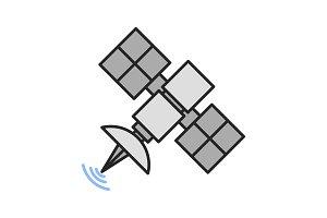 Satellite signal color icon