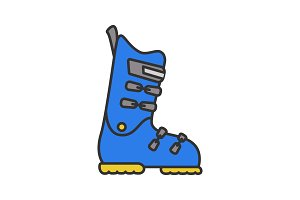 Ski or snowboard boot color icon