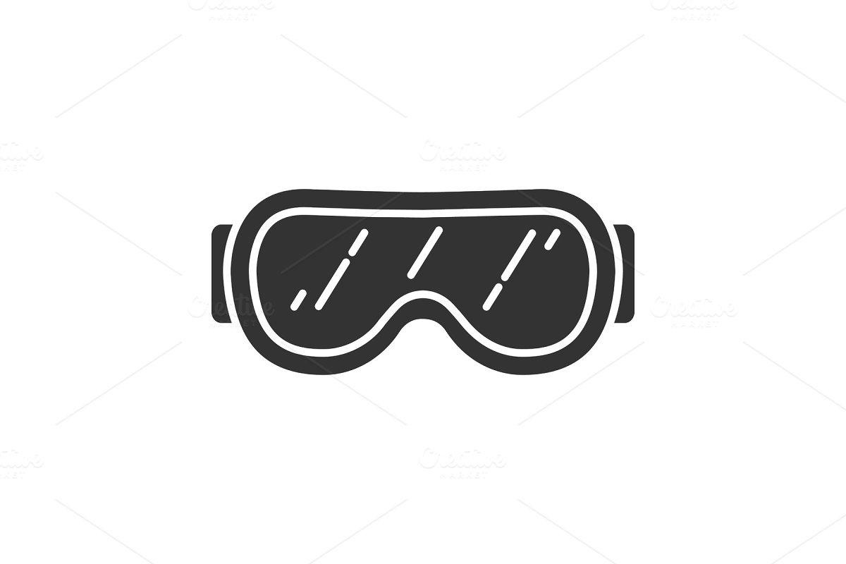 a3c5839ecdff Ski goggles glyph icon ~ Icons ~ Creative Market