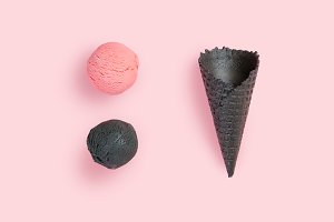Creative layout - ice cream cones