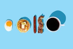 Creative layout - breakfast