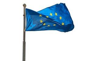 Waving Europian Union EU flag