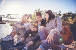 Teen friends outdoor