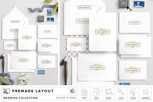 Wedding Stationery Suite Mockup