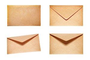Set with 4 yellow envelopes
