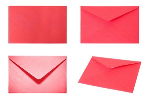 Set with 4 red envelopes