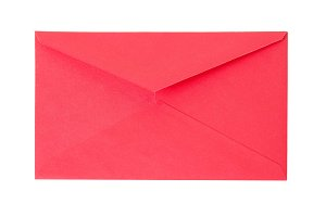 Closed old red paper envelope