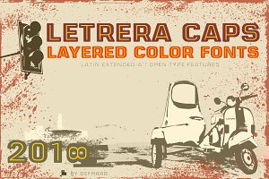 Letrera Caps -Layered & Color Fonts-