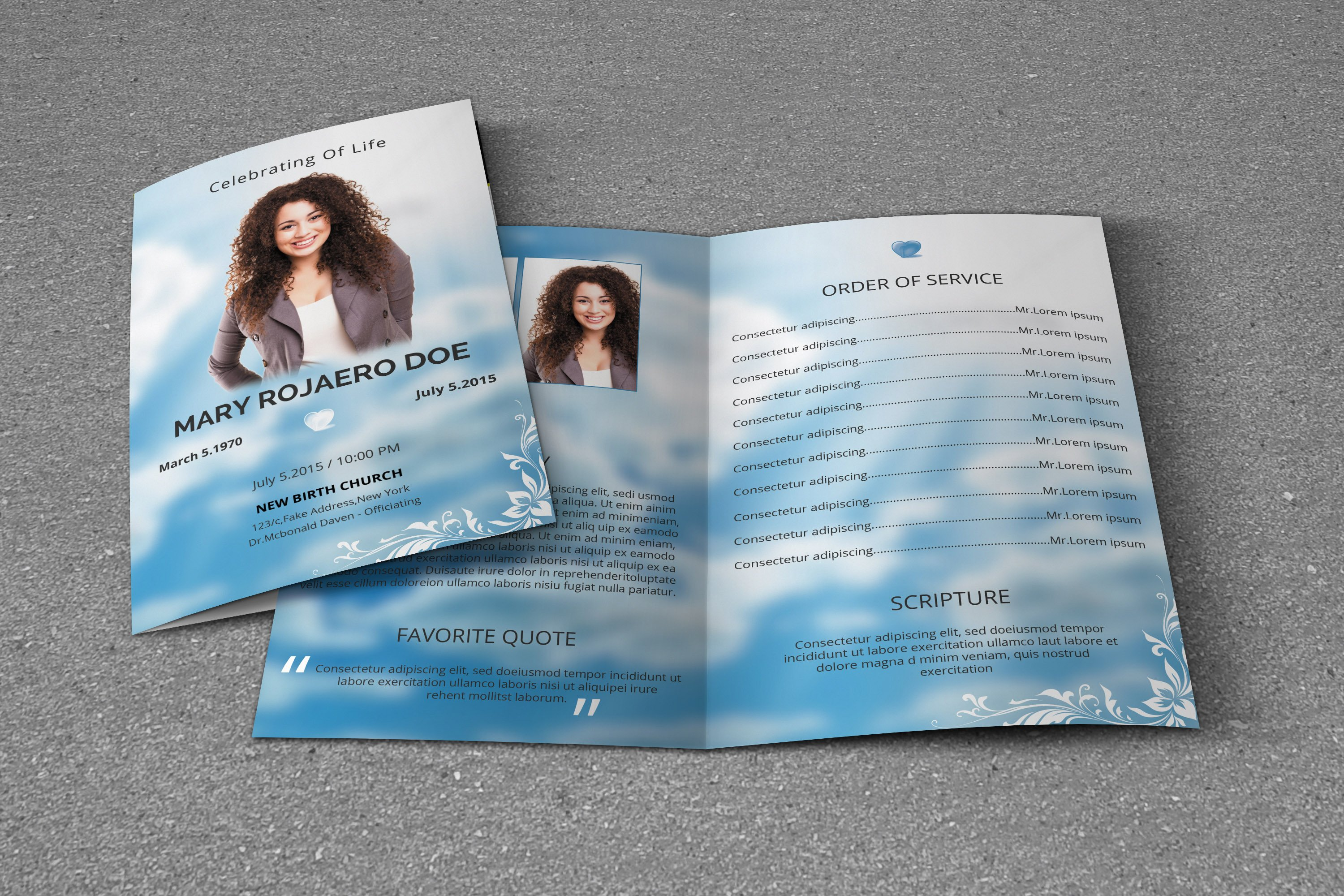 funeral program template v116 brochure templates creative market