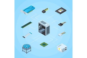 Vector isometric electronic devices