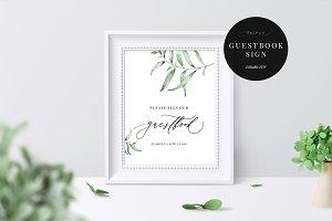 Wedding Guestbook Sign, Aurora