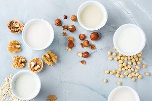 Assortment of organic vegan non diar