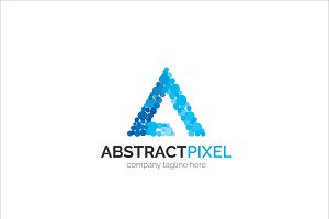 Abstract Pixel Letter A Logo