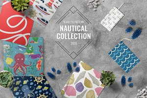 Nautical summer pattern collection