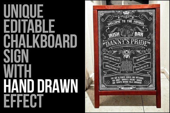 Sketched Chalkboard Menu Design Kit