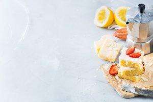 Homemade lemon polenta cookie bars w