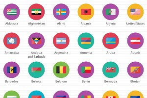 249 Countries Flags in The World