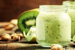 Healthy Smoothies from kiwi, banana,