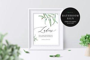 Wedding Bathroom Sign, Aurora