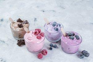 Healthy vegan dessert concept -