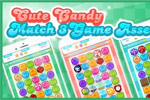 Cute Candy - Match Three Game Assets