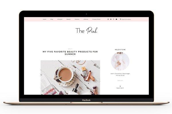 Responsive Wordpress Theme - Pink