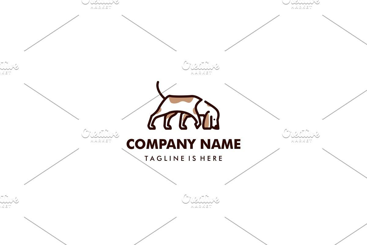 walking dog smells vector logo