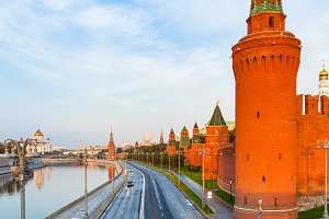 Moscow Kremlin in the morning, Russi