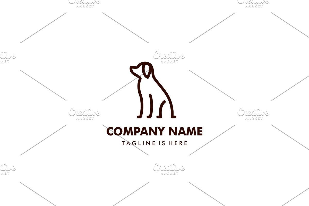 minimalist monoline outline dog logo