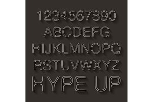 Trendy style distorted typeface