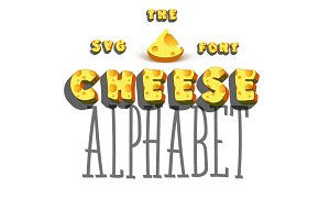 SVG 3d Font - Cheese
