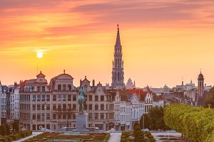 Brussels at sunset, Brussels